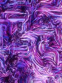 Psychedelic Interweaving Colored Lines. Digital Abstract Background. Modern Covers Design With Geome poster