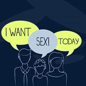 Text Sign Showing I Want Sex. Conceptual Photo To Desire Sexual Intercourse Excitement. poster