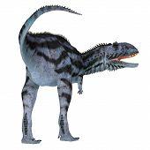 Majungasaurus Dinosaur Tail 3d Illustration - Majungasaurus Was A Carnivorous Theropod Dinosaur That poster