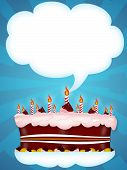 pic of happy birthday  - Greeting Illustration of a cake for happy birthday - JPG