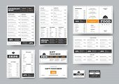 Corporate Identity Template For Cafes And Restaurants With Horizontal Design Elements. poster