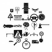 Movement Icons Set. Simple Set Of 25 Movement Icons For Web Isolated On White Background poster