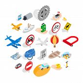 Movement Icons Set. Isometric Set Of 25 Movement Icons For Web Isolated On White Background poster