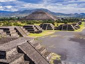 Stunning View Of Teotihuacan Pyramids And Avenue Of The Dead, Mexico poster