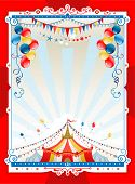 stock photo of tent  - Bright circus frame with space for text - JPG