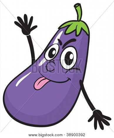 illustration of a brinjal on a white background