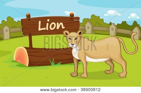 Illustration of animal enclosure at the zoo
