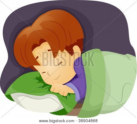Illustration of a Boy Having a Nightmare