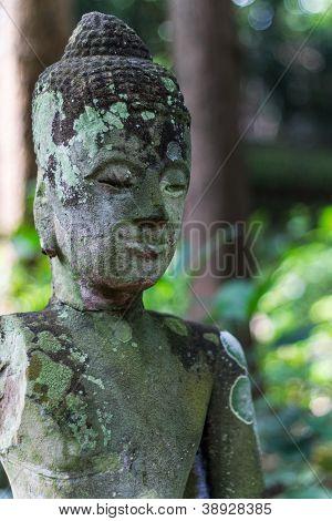 Buddha Statue In Wat Umong Chiangmai , Thai