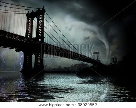 Tornado NYC illustratie