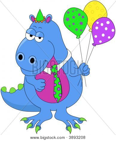 Birthday Dinosaur Vector