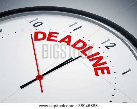 An image of a nice clock with deadline