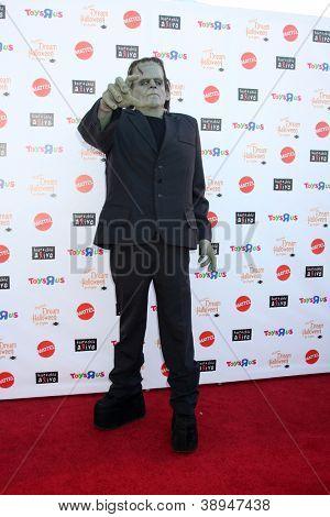 LOS ANGELES - OCT 27:  Frankenstein Costume arrives at