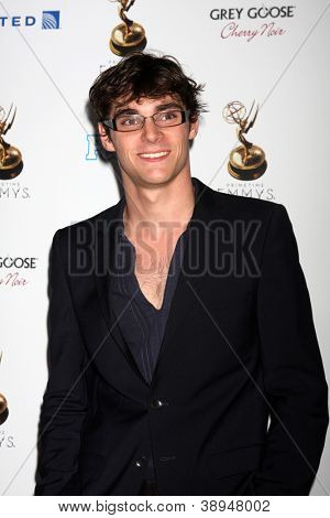 LOS ANGELES - SEP 21:  RJ Mitte arrives at the Primetime Emmys Performers Nominee Reception at Spectra by Wolfgang Puck on September 21, 2012 in Los Angeles, CA