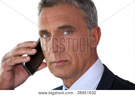 Man talking on his mobile phone