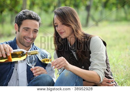 Wine Tasting in the field
