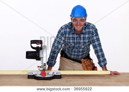 Man with circular saw