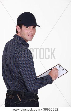 A deliveryman.