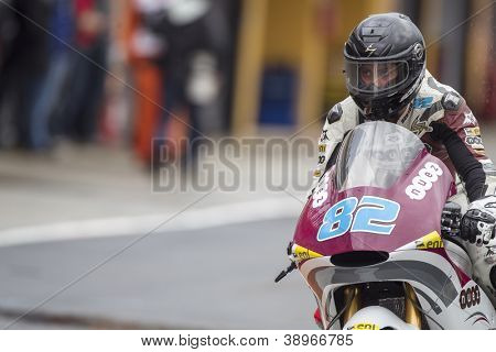 CHESTE - NOVEMBER 9: Elena Rosell during MOTOGP of the Comunitat Valenciana, on November 9, 2012, in Ricardo Tormo Circuit of Cheste, Valencia, Spain