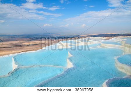 Travertino natural piscinas y terrazas, Pamukkale, Turquía