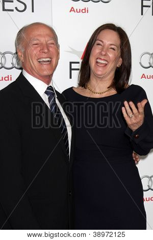 LOS ANGELES - NOV 8:  Frank Marshall, Kathleen Kennedy arrives at the