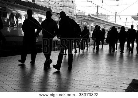 People at the Train Station