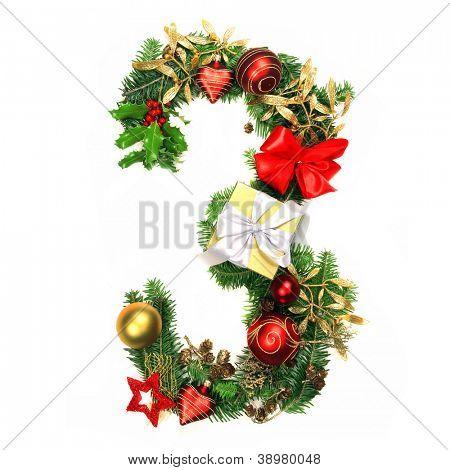 Christmas Alphabet Number 3