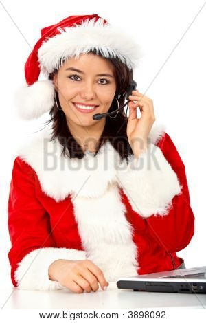 Christmas Customer Services Girl