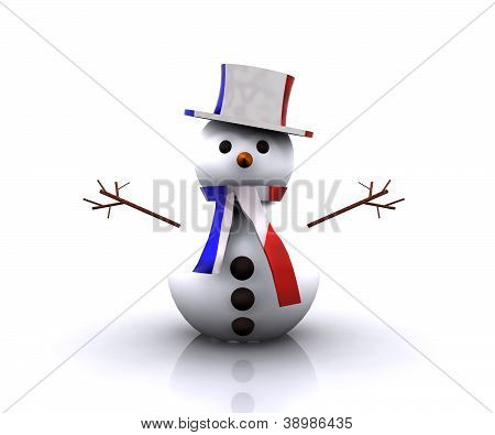 Snowman French - 3D