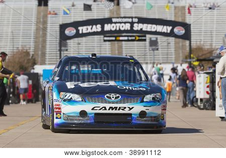 FORT WORTH, TX - NOV 02:  The NASCAR Sprint Cup Series take to the track for a practice session for the AAA Texas 500 at Texas Motor Speedway in Fort Worth, TX on Nov 2, 2012.