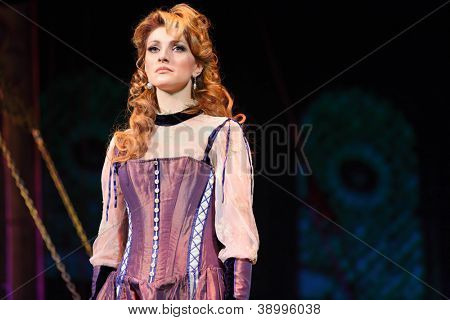 MOSCOW - FEBRUARY 3: Actress Anastasia Makeeva in musical