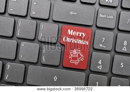 Merry christmas on keyboard
