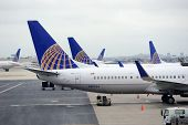 NEWARK, NJ - Oct 5: United Airlines plane at airport on October 5, 2011 in Newark, New Jersey. Unite