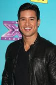 LOS ANGELES - NOV 5:  Mario Lopez arrives at the X-Factor Season Two FInalist Party at SLS Hotel at