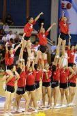 KUALA LUMPUR - OCTOBER 27: Farmcochem's cheerleaders perform during half-time in a Malaysia National