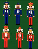 foto of tchaikovsky  - Toy soldiers clip art illustrations from the Nutcracker suite by Tchaikovsky - JPG