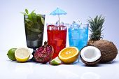 pic of sidecar  - Alcohol drinks set with fruits - JPG