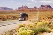 Motorhome In Monument Valley poster