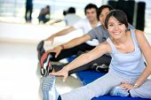 foto of training gym  - group of people at the gym portrait - JPG