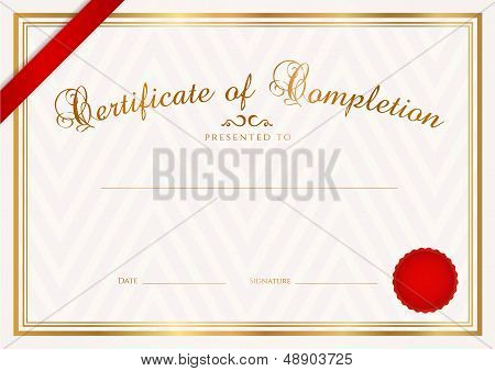 Certificate / Diploma template (abstract pattern). Award background