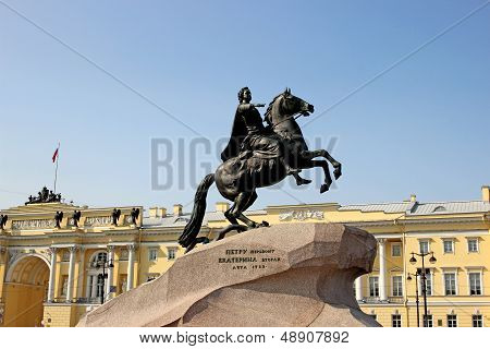 Monument to Peter I in St. Petersburg