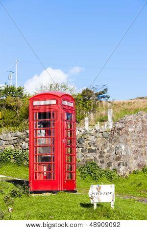 telephone booth, Clashnessie, Highlands, Scotland