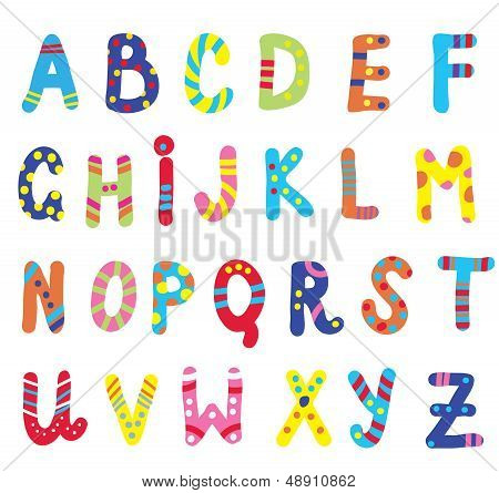 Abc for children funny design