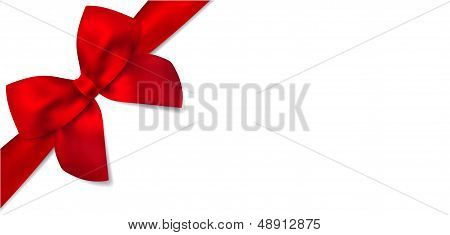 Gift certificate, voucher template with isolated blue bow (ribbon)
