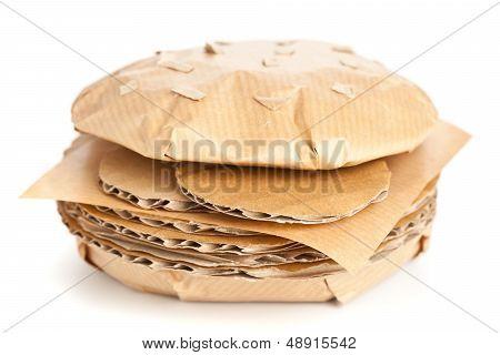 Fast Food Cardboard Burger