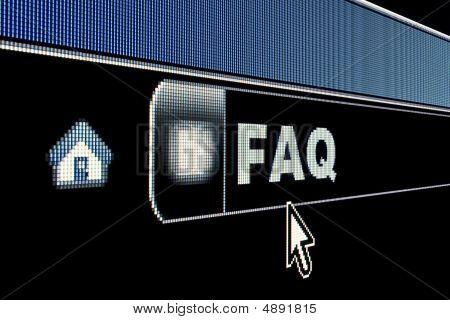 Internet Faq Concept