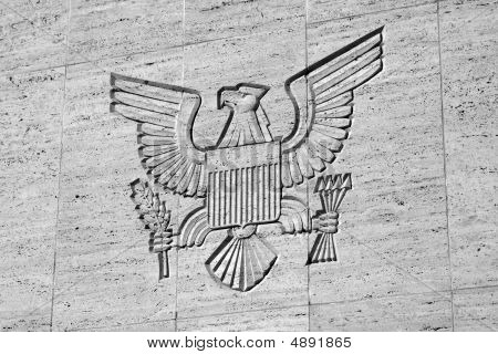 Great Seal Engraved On Wall