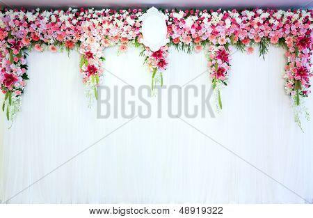Flowers archway of wedding venue