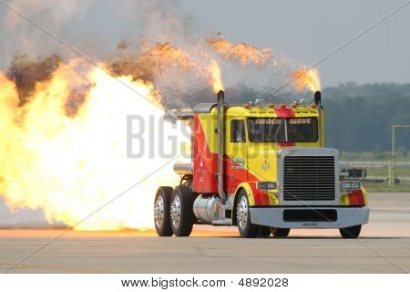 The Shockwave Jet Truck.