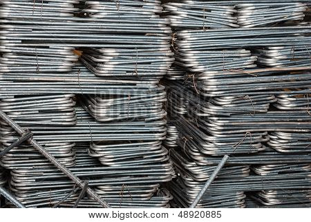 Square Shaped Of Steel Rod Background/ Texture